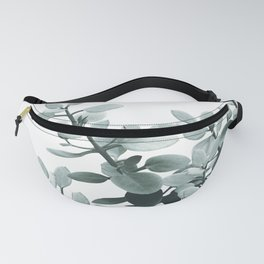 Eucalyptus Leaves Green Vibes #1 #foliage #decor #art #society6 Fanny Pack
