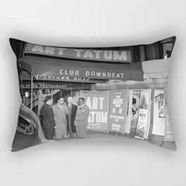 Art Tatum at Club Downbeat, New York City. 1947 Rectangular Pillow