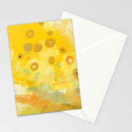 Abstract autumn with gold and warm light Stationery Cards