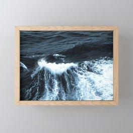 Dark Sea Waves Framed Mini Art Print