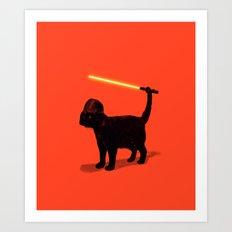 Cat Vader Art Print