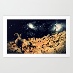 Space Sheep Art Print