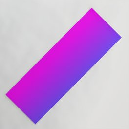 Neon Blue and Hot Pink Ombré Shade Color Fade Yoga Mat