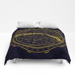STARMAP 1 blue & gold Comforters