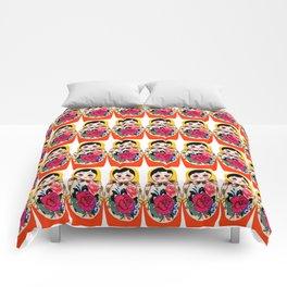 Babushka ya ya red Comforters