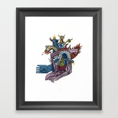 New god makina - Print available!! Framed Art Print