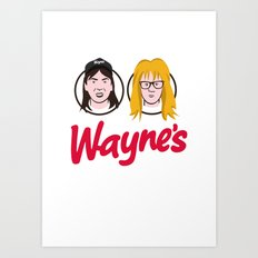 Wayne's Double Art Print
