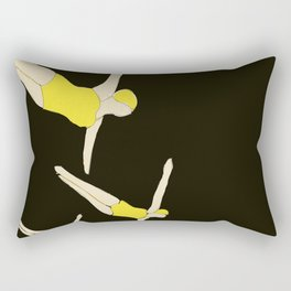 Synchronized Swimmers Rectangular Pillow