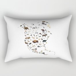 Wild North America map Rectangular Pillow