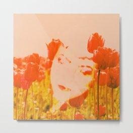 Tulip head Metal Print