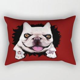Bulldog Tattoo Rectangular Pillow