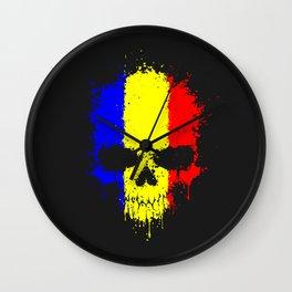 Romanian skull Wall Clock