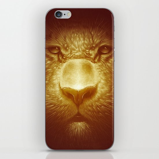 Gold Tiger iPhone & iPod Skin