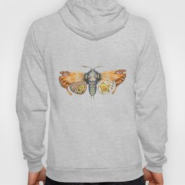 orange moth (ORIGINAL SOLD). Hoody