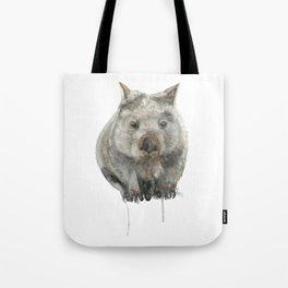 Wombat watercolour Tote Bag