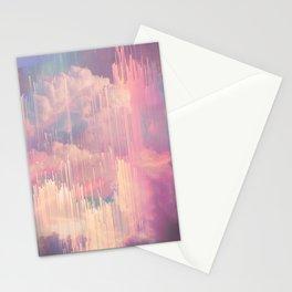 Candy Glitched Sky Stationery Cards