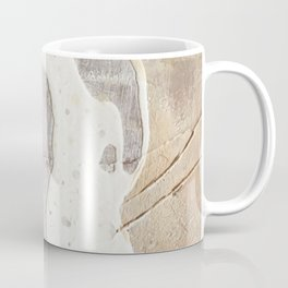 Feels: a neutral, textured, abstract piece in whites by Alyssa Hamilton Art Coffee Mug