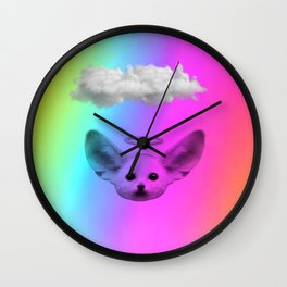 Little Angel Fennec Fox Wall Clock