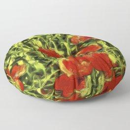 Poppys Van Goth Oil Pastel Art Floor Pillow