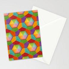 Geometric Rainbows Stationery Cards