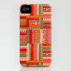 orange quilt iPhone (4, 4s) Slim Case
