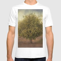 Whimsical Tree Mens Fitted Tee White MEDIUM