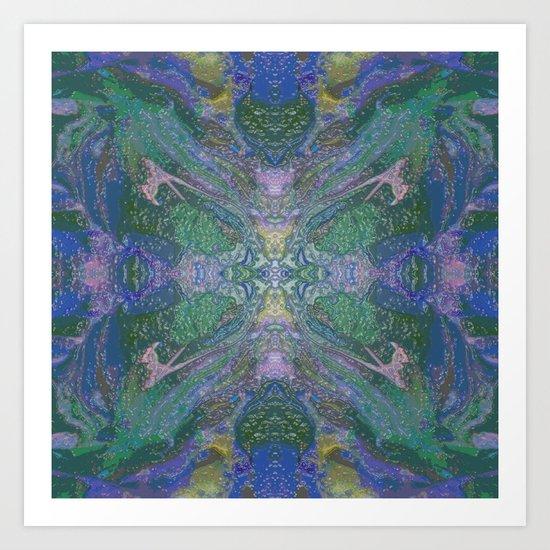 Internal Kaleidoscopic Daze- 16 Art Print
