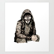 Anonymous Gangster Art Print