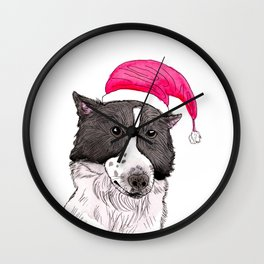 Merry Christmas from My Dog Wall Clock