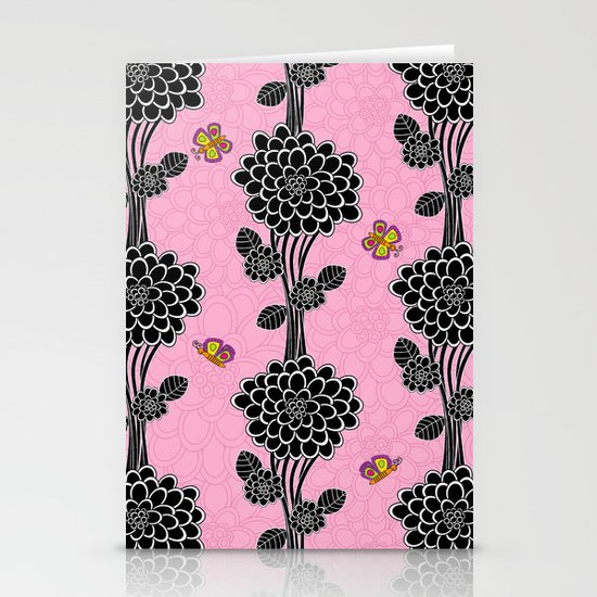 Flowered tree. in pink Stationery Cards