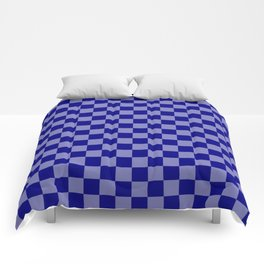 Large Navy Blue Check Pattern Comforters