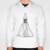 fashion illustration Hoodies featuring Fashion Illustration by Vanessa Antonina