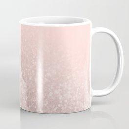 Rose Gold Sparkles on Pretty Blush Pink VI Coffee Mug