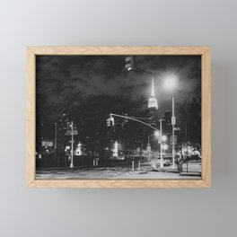 New York City Nights Framed Mini Art Print