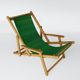 Emerald Green Stripes Abstract Sling Chair
