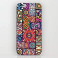Boho Patchwork Quilt Pattern 2 iPhone & iPod Skin