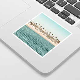 Vintage Newport Beach Print {1 of 4} | Photography Ocean Palm Trees Teal Tropical Summer Sky Sticker