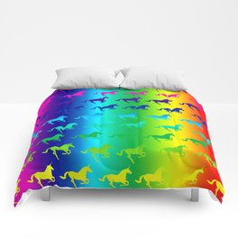 Psychedelic Unicorn Pattern Comforters