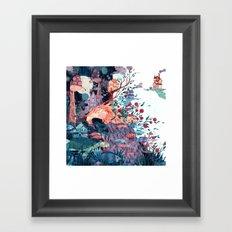 Cosmic neighborhood Framed Art Print