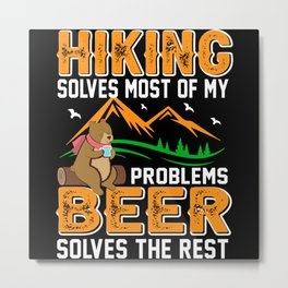 Mountaineer Forest Wild Funny Metal Print
