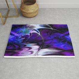 Psychedelic Waves (violet-indigo) Rug