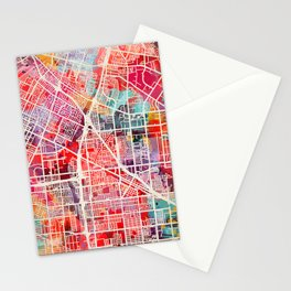 Norwalk map California painting 2 Stationery Cards