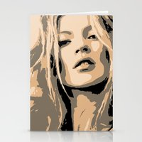 kate moss Stationery Cards featuring KATE MOSS by Christophe Chiozzi