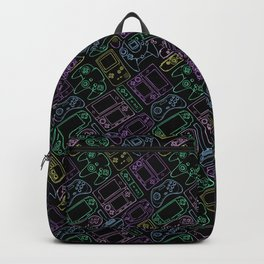 Video Game Controllers in Neon Colors Backpack