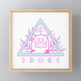 Witchy Cat Paw 02 Framed Mini Art Print