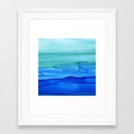 Alcohol Ink Seascape Framed Art Print