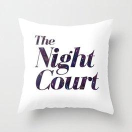 The Night Court Galaxy Design White Throw Pillow