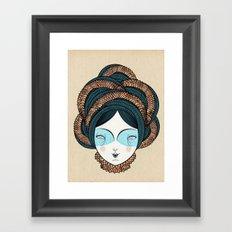 The long hair girl Framed Art Print