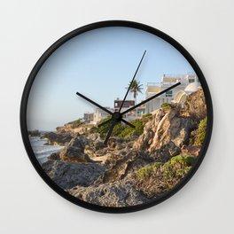 Villa Casa House Paradise Isla Mujeres Mexico Landscape Seascape Caribbean Sea Island Ocean Beach Wall Clock