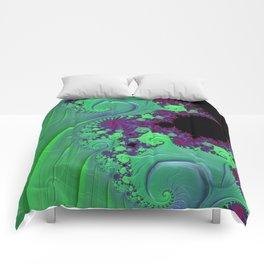 Euphoric Seahorse - Fractal Art Comforters